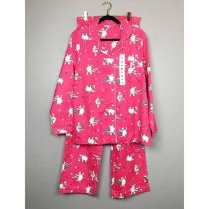 Great Northwest Pajama Set Polar Bear Flannel Pink